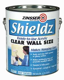 Zinsser 174 Shieldz 174 Clear Acrylic Wall Size Product Page