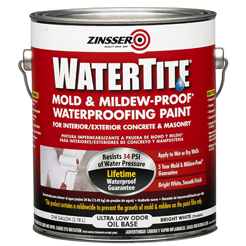 Zinsser watertite mold mildew proof waterproofing paint product page Oil based exterior paint brands
