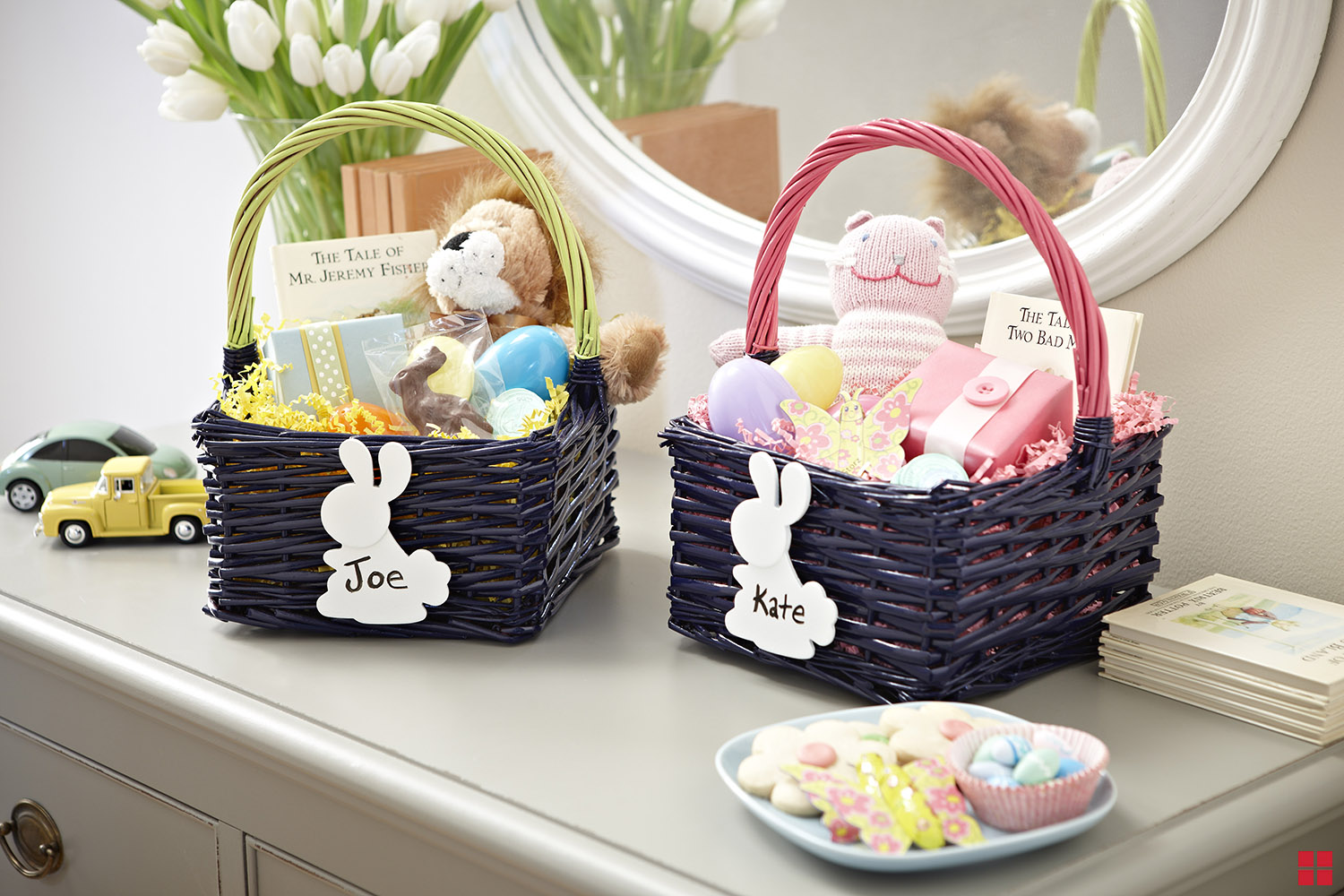 Personalized Easter Baskets with Dry Erase Nametags