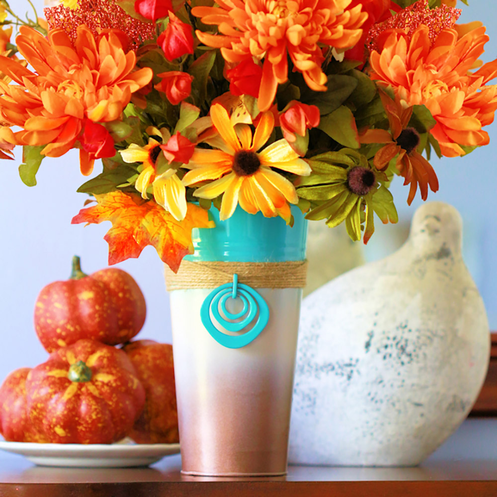 Thanksgiving Vase for the Fireplace Mantel