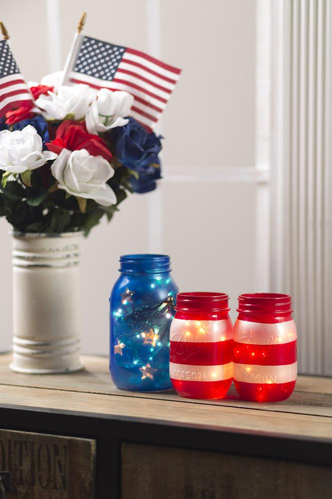 Diy Light Up 4th Of July Mason Jars