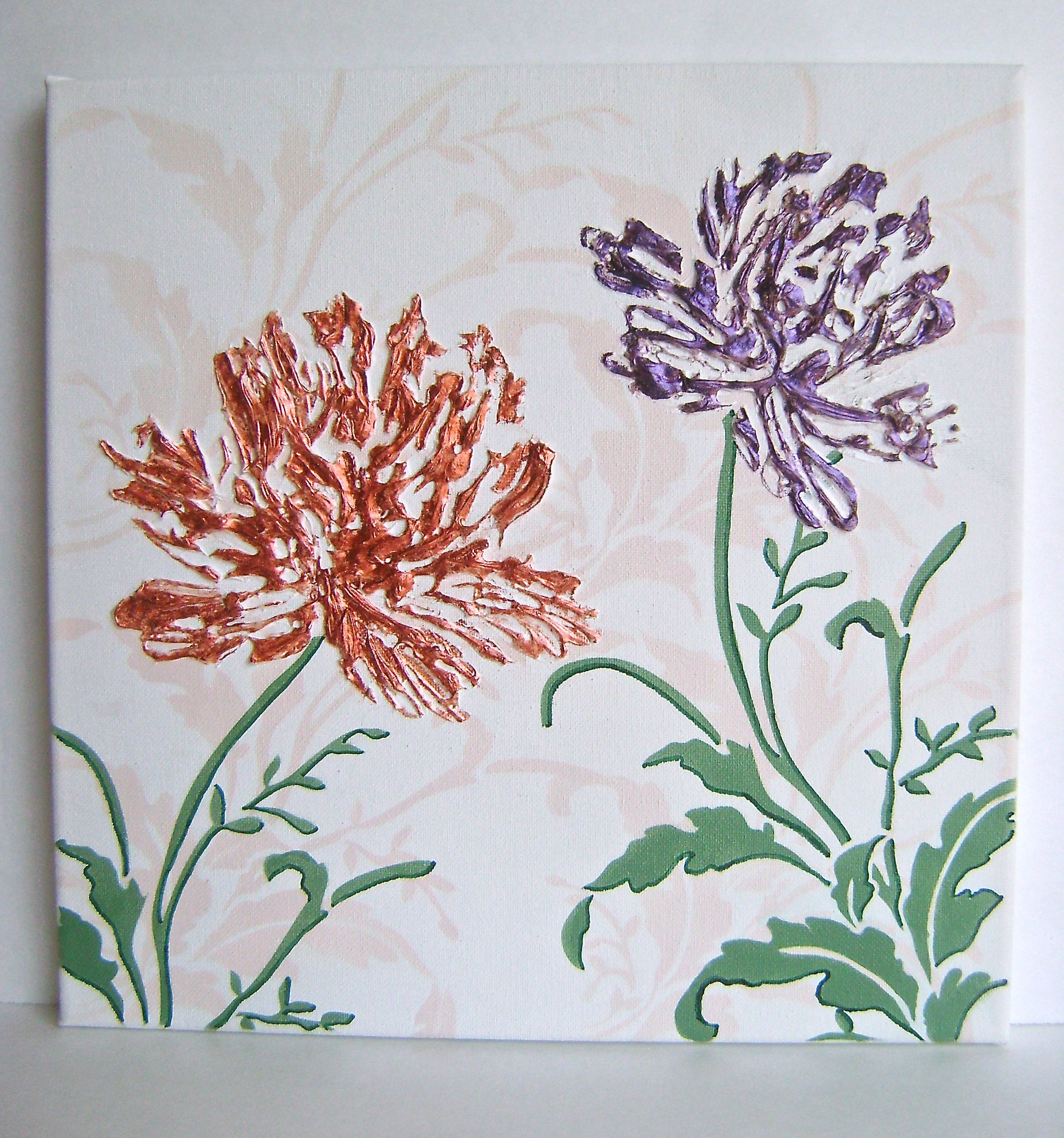 Pearl Blooms Canvas