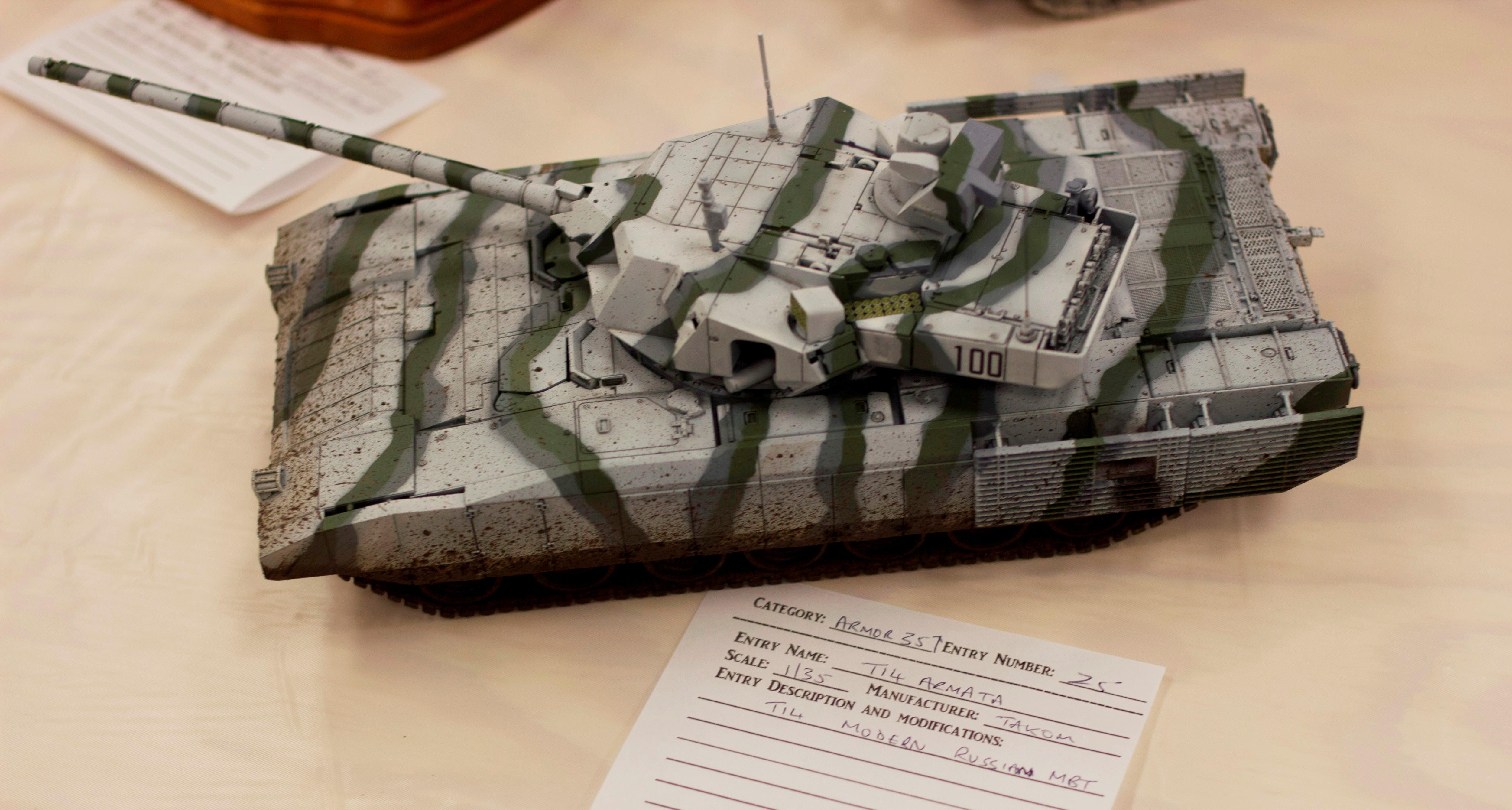 1 35 Scale Model Of A T14 Armata Russian Tank