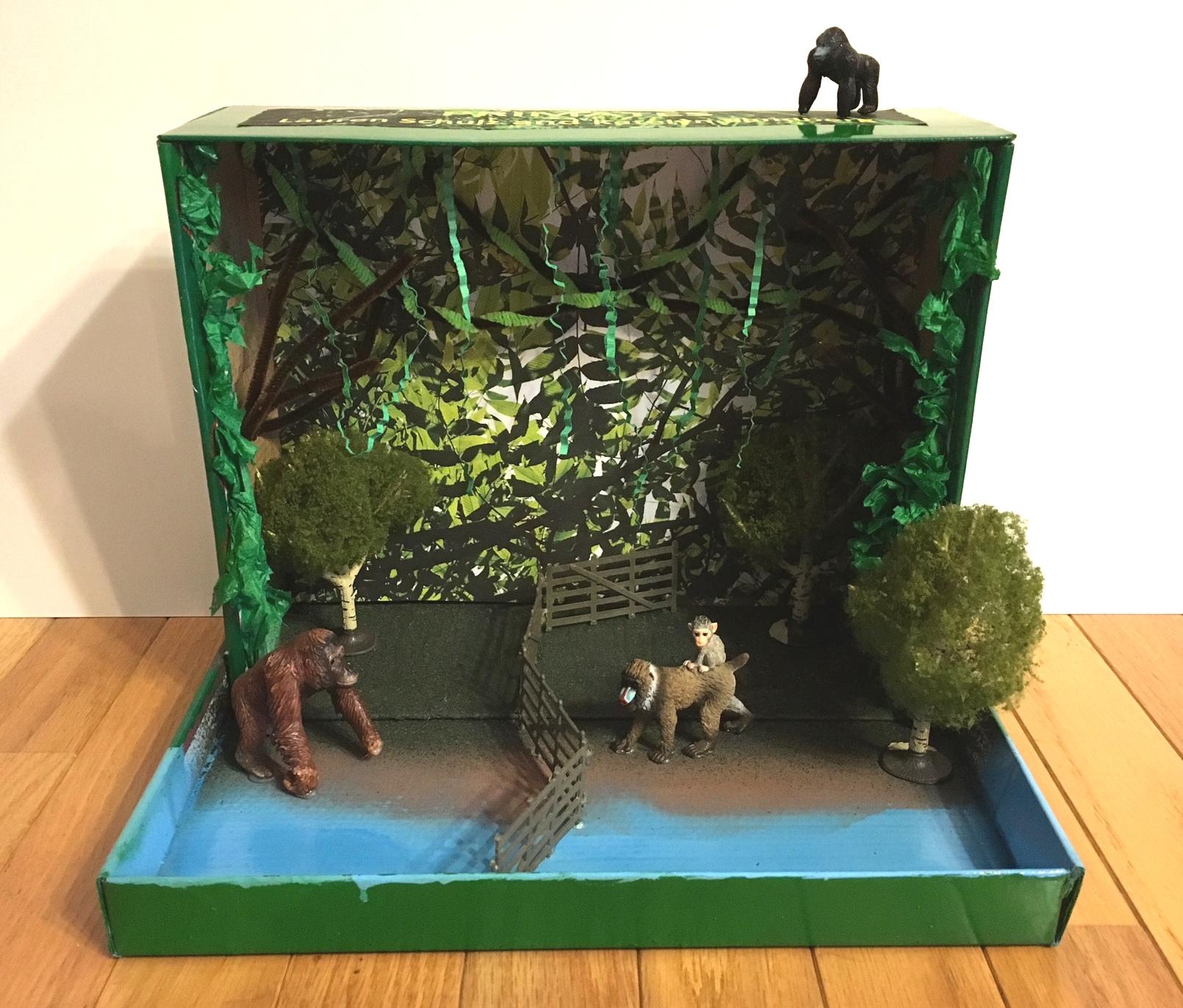Primate Animal Habitat Diorama For Science Class
