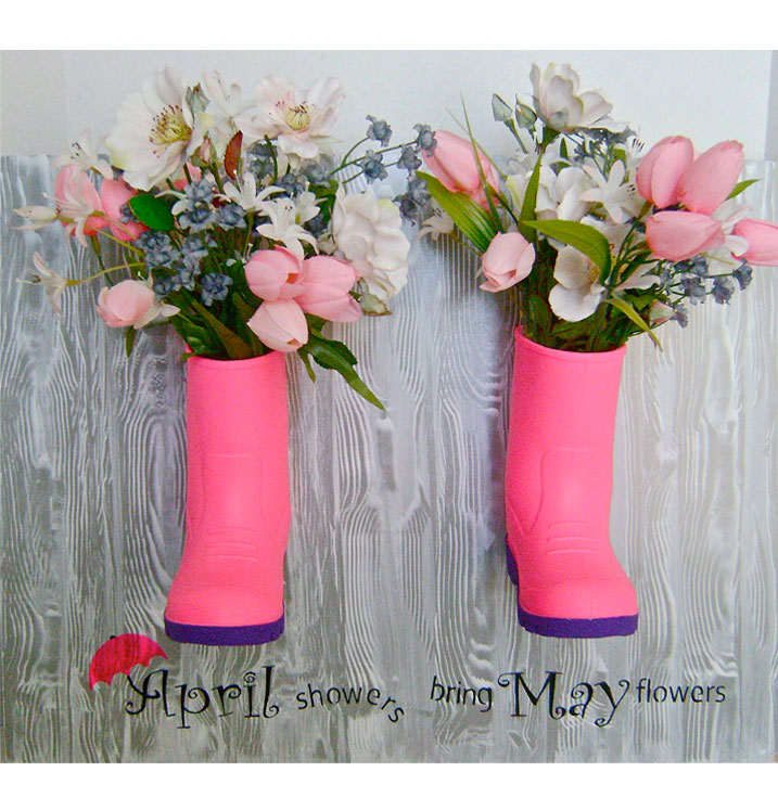 April Showers Boot Planter