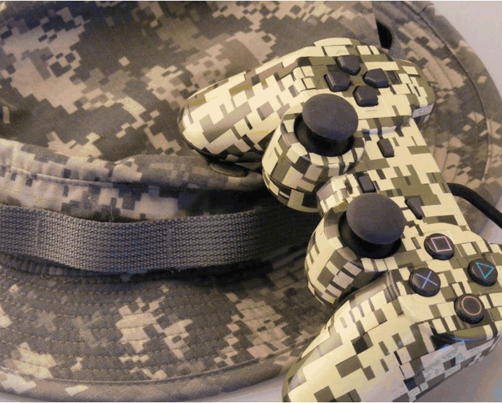 camouflage game controller