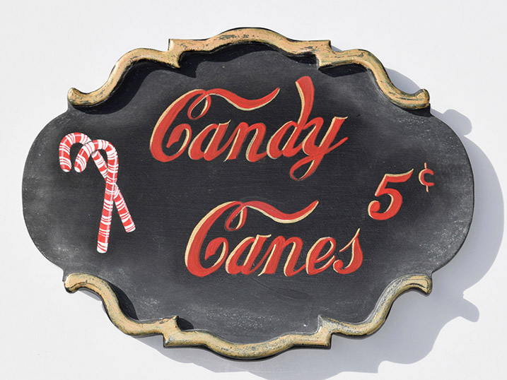 Candy Cane Plaque
