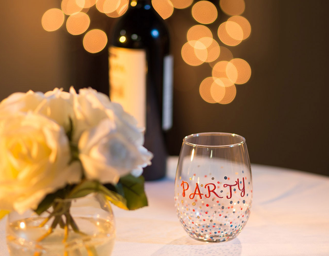 decorate your own stemless wine glass with testors craft paint