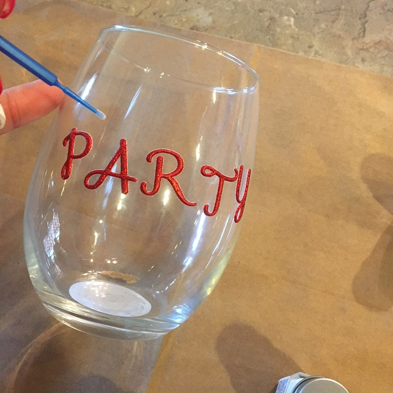 Decorate your own stemless wine glass with testors craft paint for How to decorate wine glasses with sharpies