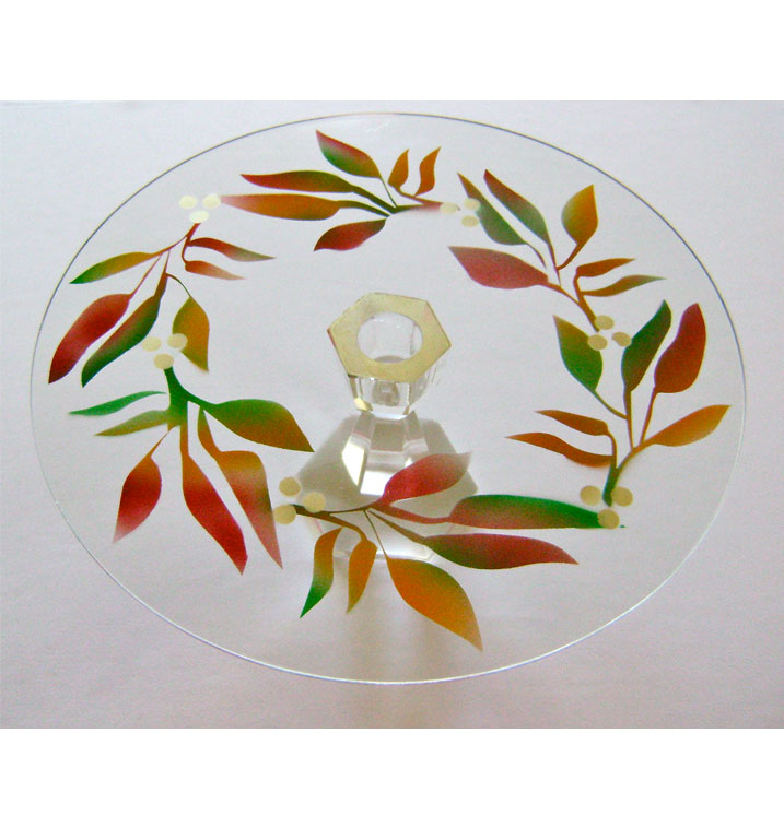 Fall Themed Cake Plate