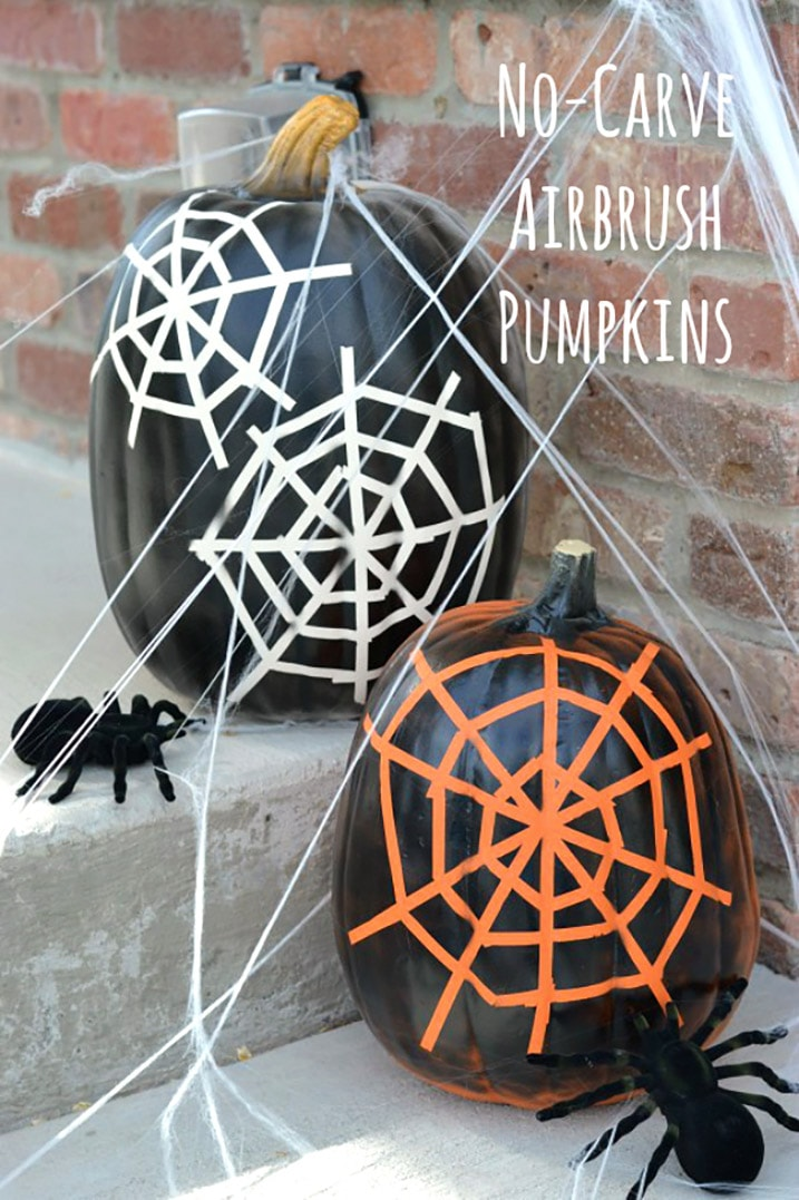 Holloween Spider Web Pumpkins project