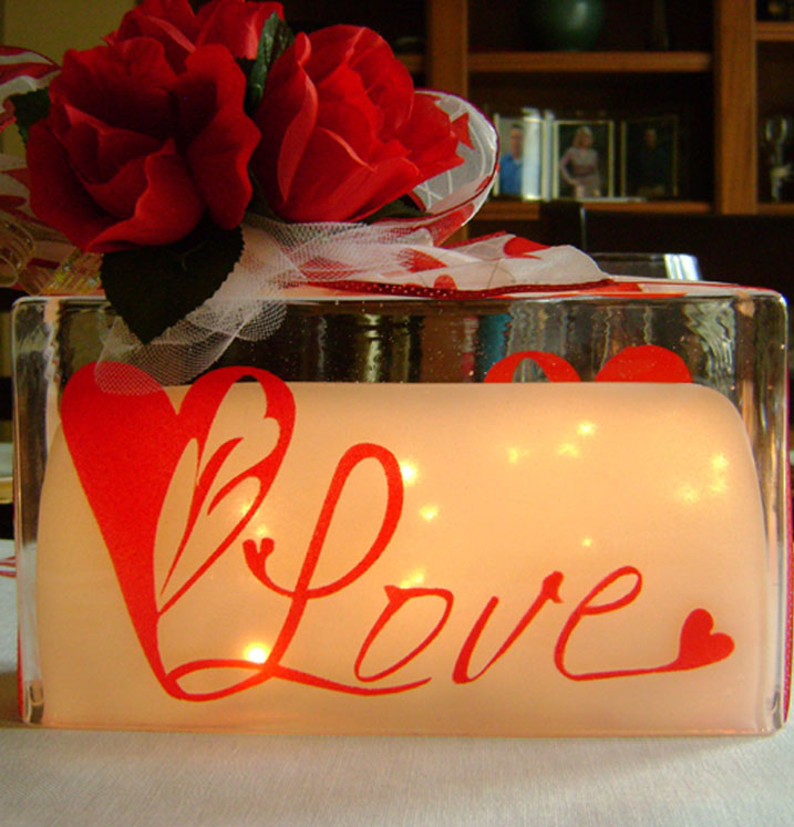 Heart Lights Centerpiece