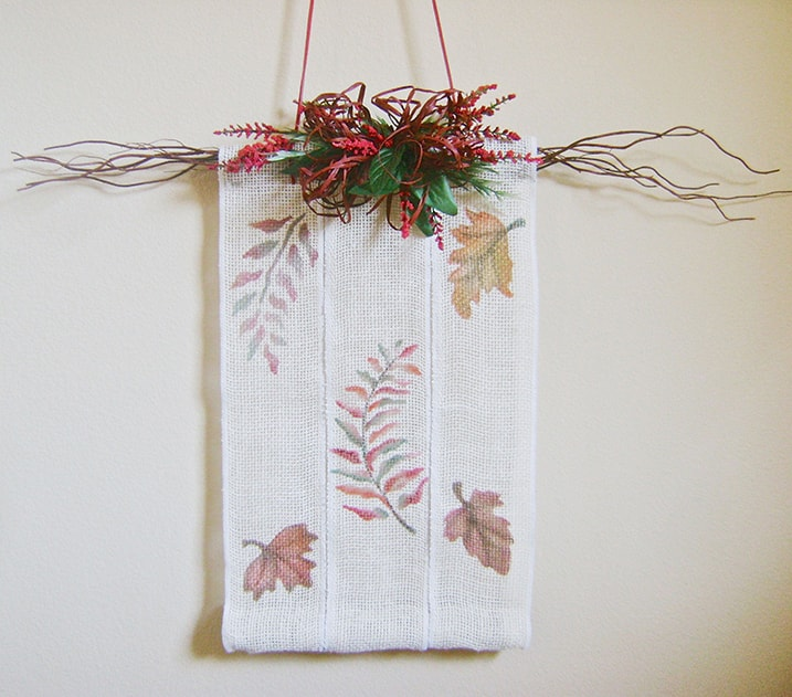 Leaf and Twig Wall Hanging Project