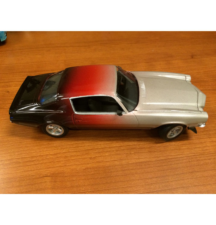 MODEL-CAR-RED-SILVER-BLACK