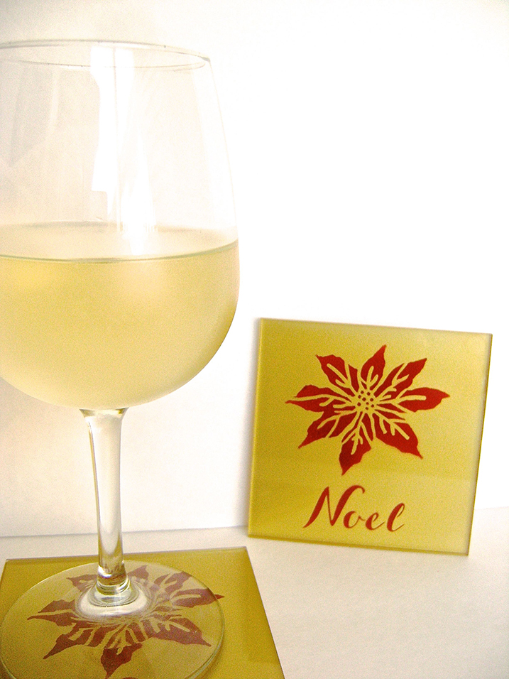 extraordinary inspiration drink coaster. Aztek Airbrushed Noel Glass Drink Coasters DECK THE HALLS ALL YEAR LONG Extraordinary  Inspiration Coaster Home Design Plan The Best 100 Image