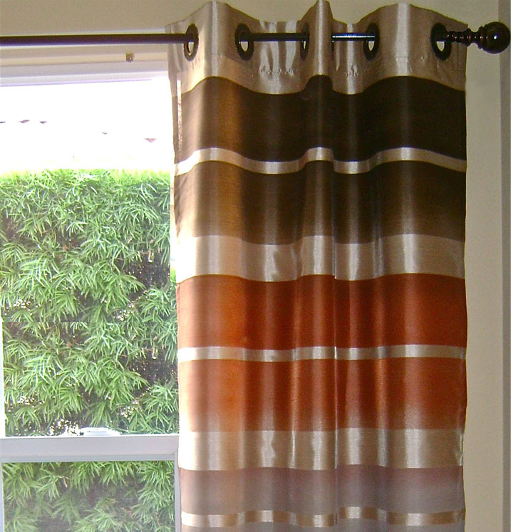 OMBRE STRIPED CURTAINS