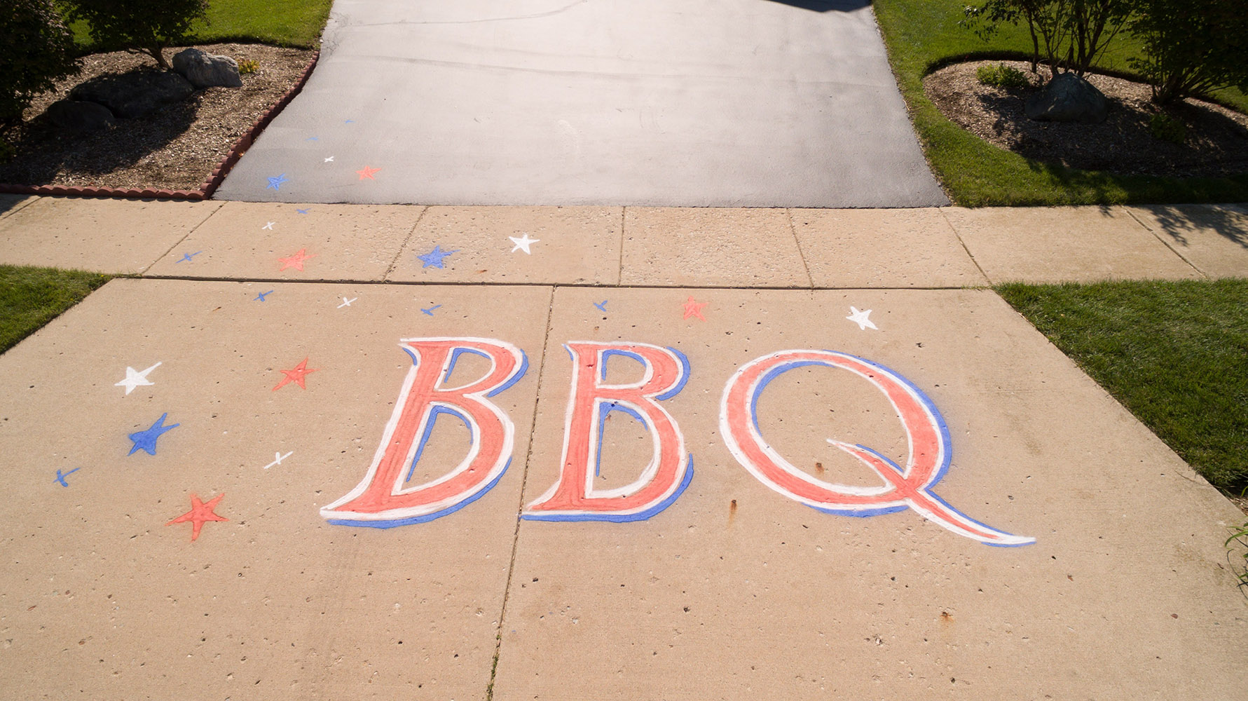Spray Chalk BBQ