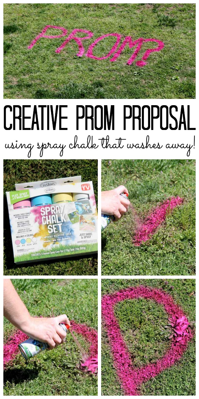 Spray Chalk Prom Proposal