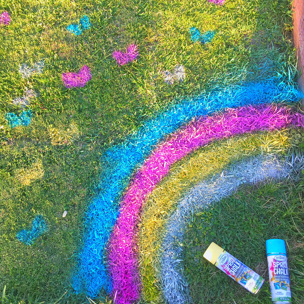 Spray Chalk Spring Designs