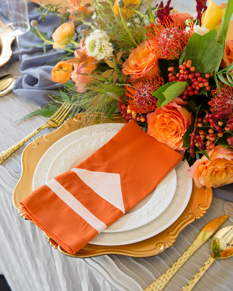 Spray Painted Reusable Napkins