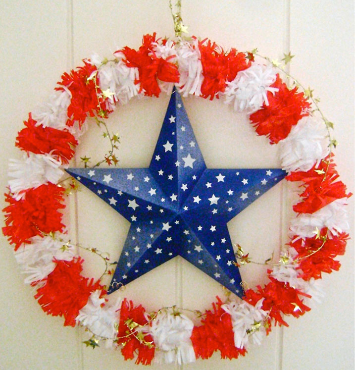 Stars and Striped Wreath