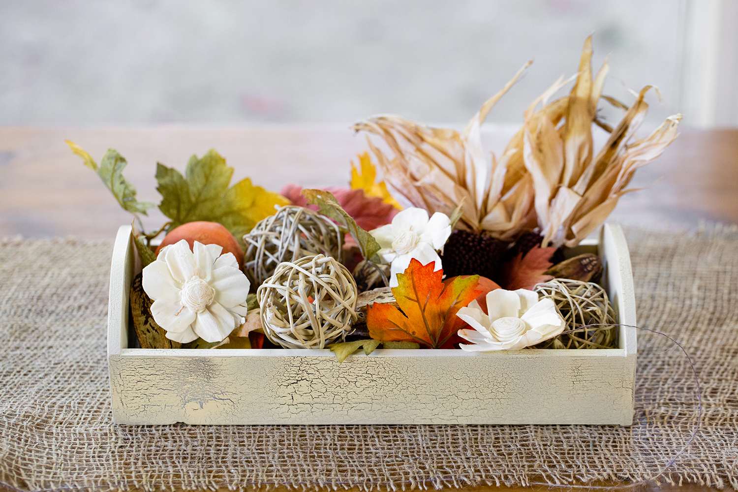 Rustic Thanksgiving Table Centerpieces