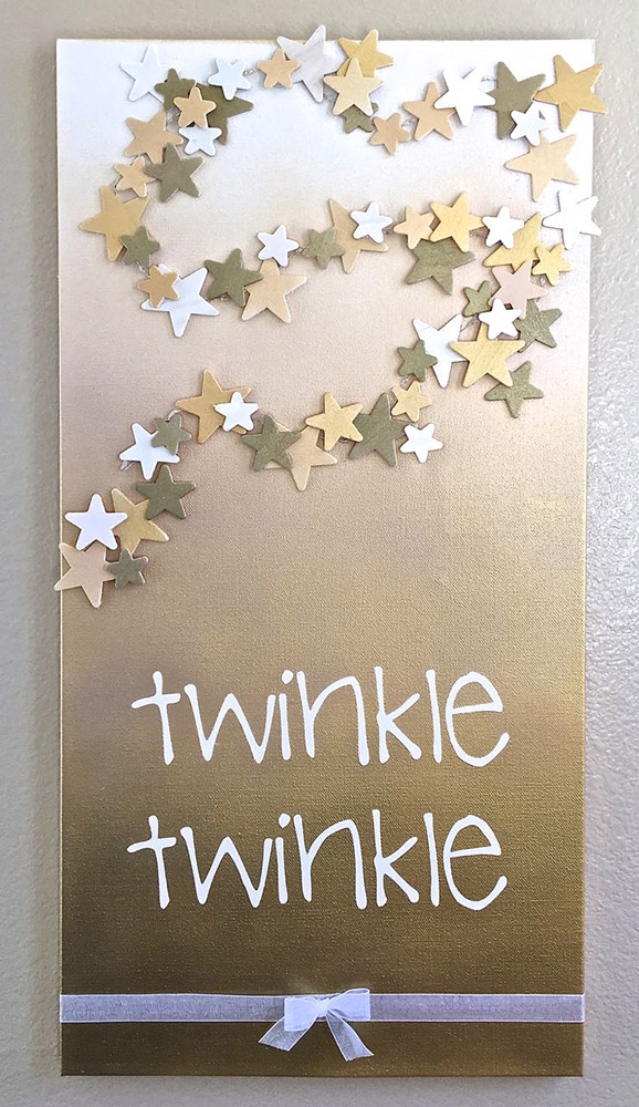 Twinkle Twinkle Baby Shower Canvas project